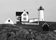 Nubble Framed Prints - Nubble Lighthouse Framed Print by Will Gunadi
