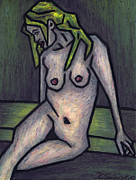Oil Pastel Prints Originals - Nude 1 - 2010 Series by Kamil Swiatek