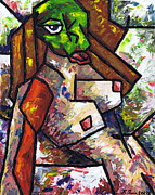 Red Lips Painting Originals - Nude 1 - 2012 Series by Kamil Swiatek