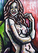 Nudes Painting Originals - Nude 3 - 2011 Series by Kamil Swiatek