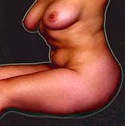 Nude Digital Art - Nude A-Glow by James Barnes
