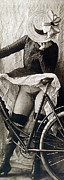 Bike Rider Prints - Nude Cyclist Detail Print by Unknown