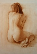 Figure Drawing Pastels Prints - Nude Delicate Arch Print by Doyle Shaw