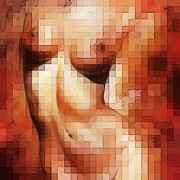 Nude Digital Art Posters - Nude details - Digital soft version Poster by Emerico Imre Toth