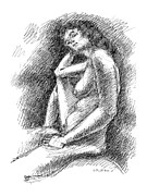 Nudity Art - Nude Female Sketches 3 by Gordon Punt