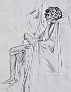 Jaswant Khalsa - Nude in a Draped Chair
