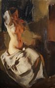 Anders Zorn - Nude in fire light 1904