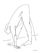 Naked Drawings Originals - Nude Male Drawings 32 by Gordon Punt