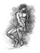 Gordon Punt Prints - Nude Male Sketches 1 Print by Gordon Punt