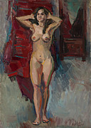 Nudity Originals - Nude near the mirror by Juliya Zhukova