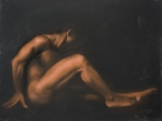 Nude Sitting Print by L Cooper