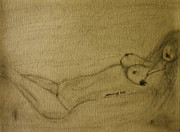 Michelle Obama Nude Drawings Originals - Nude by Sonja Freisinger