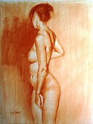 Tasteful Art Drawings Prints - Nude subtle angles Print by Doyle Shaw
