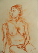 Elke Hensel - Nude Thoughtful