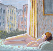Don Perino - Nude with Yellow Curtain