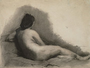 Philadelphia Drawings - Nude Woman Drawing by Thomas Eakins