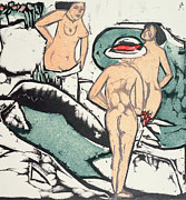 Nude Women Print by Ernst Ludwig Kirchner