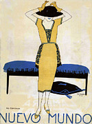 Clothing Drawings - Nuevo Mundo  1920 1920s Spain Cc Womens by The Advertising Archives