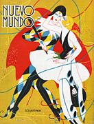 Couples Drawings Posters - Nuevo Mundo 1927 1920s Spain Cc Poster by The Advertising Archives