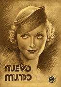 Featured Metal Prints - Nuevo Mundo  1933 1930s Spain Portraits Metal Print by The Advertising Archives