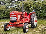 Machinery Digital Art Framed Prints - Nuffield 4/65 Diesel Tractor Framed Print by Peter Chapman