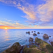 Dramatic Photos - Nugget Point at Sunrise Otago New Zealand by Colin and Linda McKie