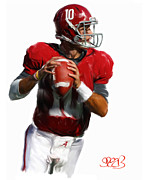 University Of Alabama Painting Prints - Number 10 Print by Mark Spears