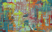 Mapping Paintings - Number 11 by Shelley Heffler