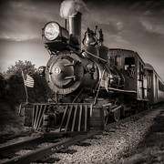 Steam Engine Photos - Number 4 Narrow Gauge Railroad by Bob Orsillo