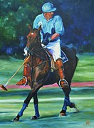 Athletic Painting Originals - Number Eight  by Sally Buffington