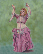 Dancing Girl Pastels Posters - Number Forty-four Poster by Marie Marfia