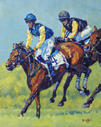 Horse Riders Painting Originals - Number Four by Patricia A Griffin