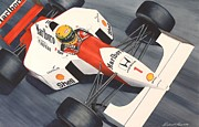 Automobilia Paintings - Number One by Robert Hooper