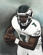 Mike Vick Pastels - Number Seven by L Cooper