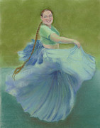 Dancing Girl Pastels Posters - Number Thirty-eight Poster by Marie Marfia