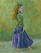 Dancing Girl Pastels Prints - Number Thirty-four Print by Marie Marfia