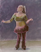 Dancing Girl Pastels Posters - Number Thirty-three Poster by Marie Marfia