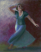 Dancing Girl Pastels Posters - Number Thirty-two Poster by Marie Marfia