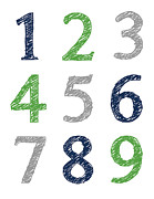 Jaime Friedman - Numbers 123 Poster