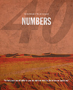 Bible Mixed Media - Numbers Books of the Bible Series Old Testament Minimal Poster Art Number 4 by Design Turnpike