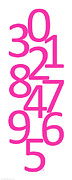 Numbers Digital Art - Numbers in Pink by Jackie Farnsworth