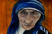 Mother Teresa Paintings - Nun by Linda Waidelich