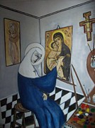 Michael C Doyle - Nun painting