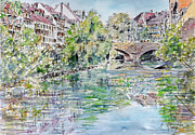 Alfred Motzer - Nuremberg river Pegnitz...