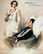 Medic Framed Prints - Nurse: Calendar, 1899 Framed Print by Granger