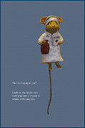 Nurse Mouse Print by Sally Weigand