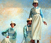 Uniforms Painting Prints - Nurses Holiday Print by Kevin Lawrence Leveque