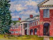 Education Paintings - Nurses Residence by Joy Skinner