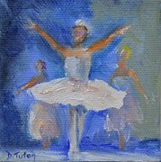 Ballet Dancers Painting Framed Prints - Nutcracker Ballet Framed Print by Donna Tuten