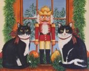 Nutcrackers Prints - Nutcracker Sweeties Print by Beth Clark-McDonal